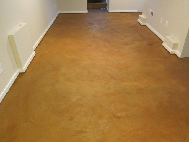 Staining Concrete Floors Indoors Yourself : Indoor concrete solutions
