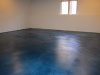 Blue Stained Basement Floor