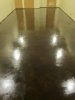 Indoor Stained Floor with Clear Epoxy Sealer
