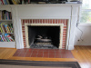 Before Picture of Fireplace Resurfacing