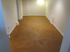 Indoor Basement - Stained Concrete with Sealer