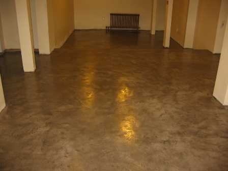"""After"" Picture of Basement Floor w/ Stain/Sealer"