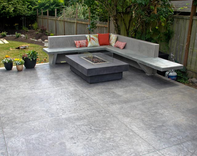 Stamped patio.