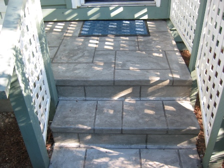 Steps Blue Stone Pattern Pictures Of Decorative Concrete Overlay Resurfacing