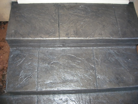 Stamped Steps - Roman Slate
